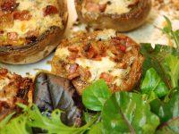 Reteta ciuperci umplute cu bacon si blue cheese