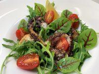 Salata cu caracatita, retete bonfood, retete cu fructe de mare, salata calda cu caracatita, reteta salata cu caracatita